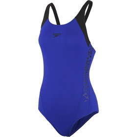 speedo Boom Splice Muscleback Swimsuit Damer, blue/black